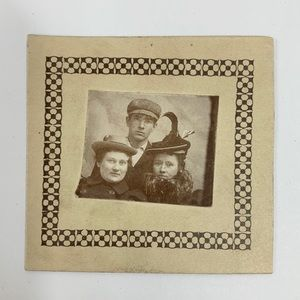 Other - Antique 1800s Mini Cabinet Card Photograph People